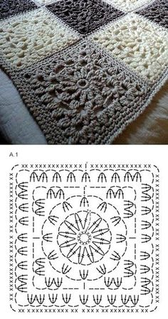 Crochet niffler cardigan a punto alternato a zig zag nunzia valenti – Crochet Patterns for CoversGranny Crochet Granny Square - Chart by SAburns, Sweet crochet square chart pattern -Image gallery – Page 840836192902409093 – Artofit Motifs Granny Square, Crochet Motifs, Granny Square Crochet Pattern, Crochet Blocks, Crochet Diagram, Crochet Chart, Crochet Squares, Crochet Blanket Patterns, Crochet Granny