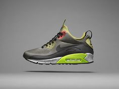 The Nike Air Max 90 SneakerBoot has a winterized outsole to improve  traction. Nike Air 23519cf57b8