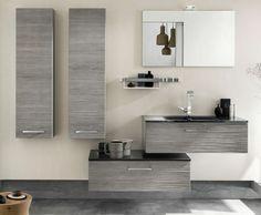 Wandschrank Für Badezimmer Grau Hängend Modern Wasserhahn