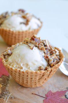 Recipe: Maple Ice Cream With Pecan Praline — Dessert Recipes from The Kitchn