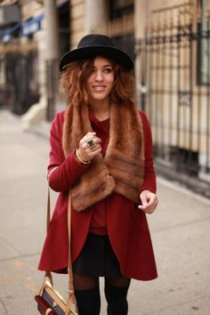 Love the red and brown mixture too chic