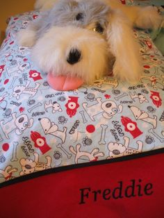 Personalized Pet Flannel Pillowcase Your Choice of Fabric $17.00