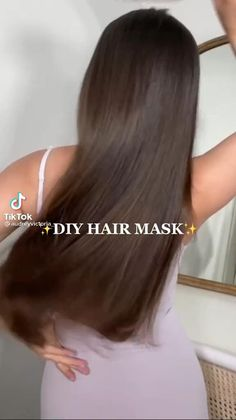 Best Hair Mask, Diy Hair Mask, Hair Tips Video, Hair Videos, Hair Up Styles, Natural Hair Styles, Natural Hair Care, Hair Growing Tips, Glow Hair