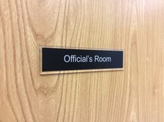 For any #Sport #door #nameplate http://www.de-signage.com/Officesigns.php