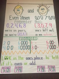 Even and odd anchor chart kindergarten                                                                                                                                                                                 More