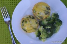 Mini Baked Asparagus Frittata aka Savory Muffins (52 New Foods) — Crunch a Color