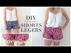 DIY   Shorts simple et à pompon┆Alyssia - YouTube