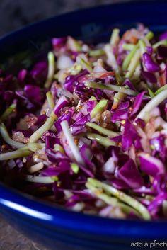 Asian Slaw Recipe via @addapinch