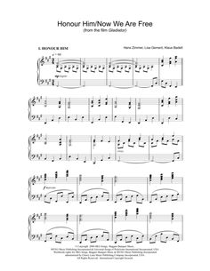 time inception sheet music
