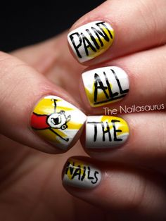 rage face nailss!! HAHAHA reminds me of Lolo