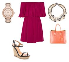 """""""Untitled #21210"""" by edasn12 ❤ liked on Polyvore featuring Alice + Olivia, Miriam Haskell, Prada, Badgley Mischka and DKNY"""