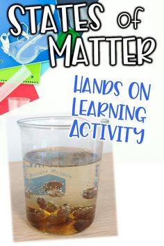 Engage your students in hands on learning with this fun and easy states of matter activity. Your 4th, 5th, and 6th grade students will love working together on this raisins in soda activity to determine how the solid object is able to move around in a liquid with the help of the carbonated gas bubbles. Check out this physical science activity!