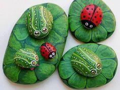 Fika a Dika - Por um Mundo Melhor: Pedras de Carinhas - Decoração de Jardim