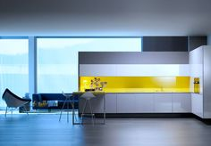 When we think of modern kitchen designs, we should also think of modern kitchen cabinet design. The flat-panel or slab-door is basic style of modern kitchen cabinet design. Contemporary Kitchen Interior, Industrial Kitchen Design, Modern Kitchen Interiors, Modern Kitchen Cabinets, Kitchen Cabinet Colors, Modern Kitchen Design, Interior Design Kitchen, Kitchen Ideas, Kitchen Modular