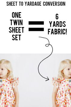 THE DAYDREAM DRESS + TWIN SHEET SET YARDAGE CONVERSION