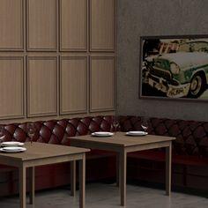 Επένδυση Τοίχου εστιατορίου με νταπλαδωτές επιφάνειες λούστρου [Σειρά Vintage] Vintage, Vintage Comics