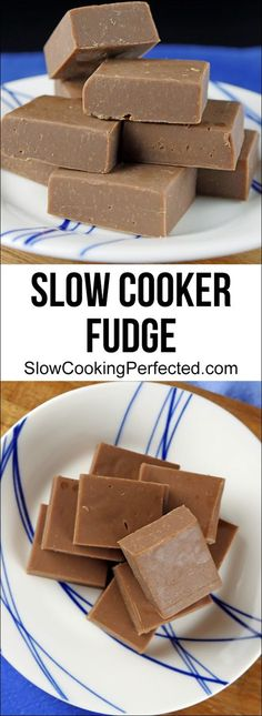 This slow cooker chocolate fudge is incredibly addictive. You also only need four simple ingredients to make it.