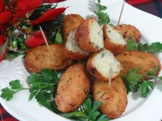 Pasteis de Bacalhau - Bolinhos de Bacalhau (Codfish Croquettes) - probably the most popular appetizer in Portuguese cuisine. They are served at every party, gathering, and celebrations.
