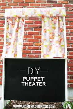 For the kid that loves puppet shows, make your own puppet theater to have at home! It is so simple and would make a sweet birthday gift. Puppet Show, Puppet Theatre, Diy Kids Furniture, Fun Summer Activities, Easy Woodworking Projects, Diy Home Decor Projects, Diy For Kids, Kids Fun, American Crafts
