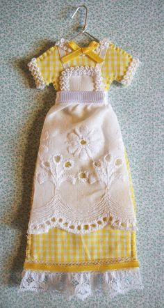 Bake Sale Yellow Gingham Miniature Dress by agapeboutique on Etsy, $9.95
