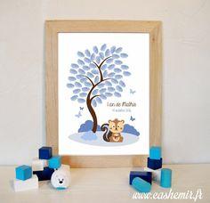Arbre à empreintes anniversaire enfant, baptême, naissance, bébé, baby shower - fichier imprimable - n°142 : Autres papeterie par cashemir