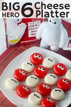 Have you seen Big Hero 6 yet?  Make this cute Baymax Cheese Platter for your party or viewing!