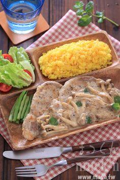 Porkchop with yogurt sauce - MASAのcafé style午餐-香草煎豬排菇黃芥末優格爾醬