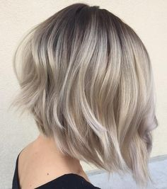 Angled Bob with Feathered Layers