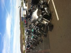 Motorcycle Mechanics Institute's Parking Lot.