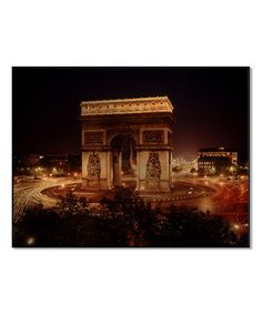 This Arc de Triomphe at Night LIFE Wall Art is perfect! #zulilyfinds