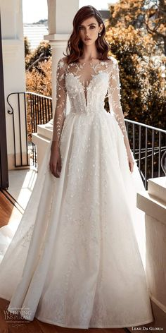 leah da gloria 2020 bridal couture illusion long sleeves sweetheart neckline fully embellished ball gown wedding dress chapel train 3 mv -- 30 Wedding Dresses You Loved This Year Designer Wedding Gowns, Luxury Wedding Dress, Dream Wedding Dresses, Bridal Dresses, Gown Designer, Lace Dresses, Gown Wedding, Lace Wedding, Wedding Day