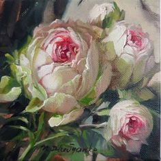 Rose Oil Painting, Oil Painting On Canvas, Canvas Art, Painting Flowers, Canvas Size, Art Mural Rose, Rose Art, Realistic Paintings, Small Paintings