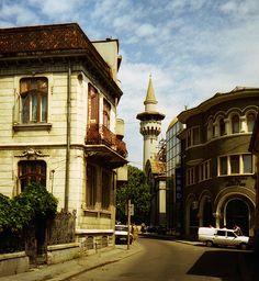 Mosque in the old city center Constanta, Romania by Geir Halvorsen, via Flickr