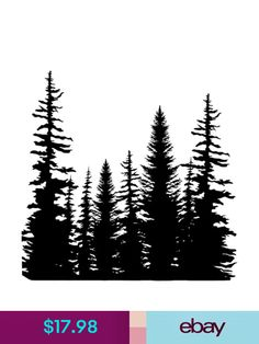 Pine Trees Cover A Card Background Unmounted Rubber Stamp Impression Obsession La Tattoo, Forest Tattoo Sleeve, Forest Tattoos, Tiger Tattoo Design, Geometric Tattoo Design, Stencil Printing, Stencil Art, Tattoo Sleeve Designs, Tattoos