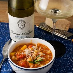 Farro makes a delicious base for this healthy soup from the Abruzzo region of Italy.