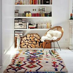 Azilal carpet in interior design For any informations contact us at @MAIL : Hello@theflyingrug.com