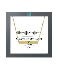 Always In My Heart Soundwave Secret Message Necklace by Cool and Interesting Sound Waves, Valentine Day Gifts, My Heart, Best Gifts, Messages, Cool Stuff, Cards, Maps