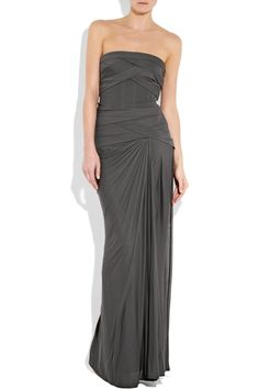 amanda wakeley bandage stretch jersey strapless dress - if only i had an occasion to wear this and the budget with which to buy it, haha