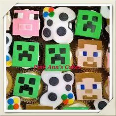 Minecraft cupcakes! ! #minecraftcupcakes