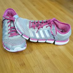 Adidas Clima cool training shoes size 8 Silver,gray and pink Adidas size 8. Great light weight shoes. In great condition. Adidas Shoes Athletic Shoes
