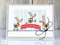 Clearly Besotted Stamps Let's Prance | Clearly Besotted Stamps