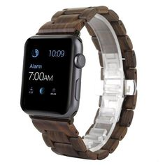 New Natural Wood Wrist Band Watch Strap Bracelet For Apple Watch iWatch Gold Apple Watch, Apple Watch Bands, Apple Watch Accessories, Cell Phone Accessories, Wood Bracelet, Bracelet Watch, Mesh Bracelet, Style Minimaliste, Teen Clothing