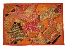 Indische Designer HängewandteppicheWall Tapestry Patchwork Design & Stickerei Work & Old Sari Patchwork, 152 X 102 Cm Rajasthali http://www.amazon.de/dp/B00PFSGB64/ref=cm_sw_r_pi_dp_v0DZvb1RJN1KX