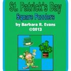 St. Patrick's Day Square Puzzlers = excellent for exercising problem solving skills. $