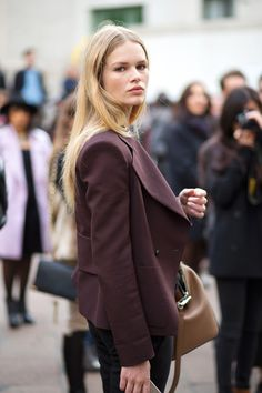 Anna Ewers. Milan Fashion Week, Fall 2015.