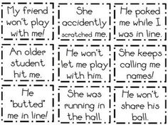 Tattling scenarios...great for a whole group lesson OMG AMAZING!