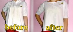 Men's polo shirt into blouse Refashion