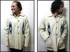 Vintage 1940's Chimayo Hand Woven Jacket Indian by schippervintage, $245.00