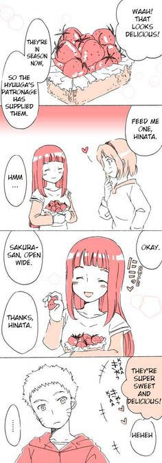 Naruhina: Feeding Strawberries Pg1 by bluedragonfan on Deviantart