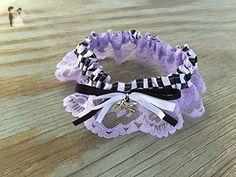 Lavender Lace Dirt Bike Charm Bridal Wedding Car Keepsake Garter Custom Color Options Motorcycle - Bridal fashion accessories (*Amazon Partner-Link)